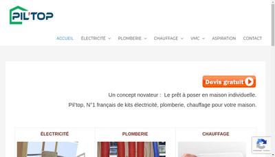 Site internet de Pil'Top - Dauphine Spa - Isere Piscine Services