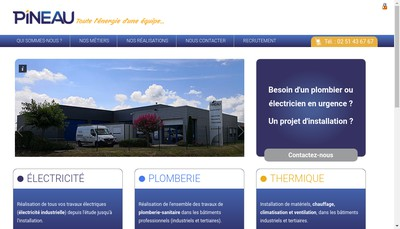 Site internet de Pineau SARL