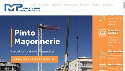 Site internet de Maconnerie Pinto