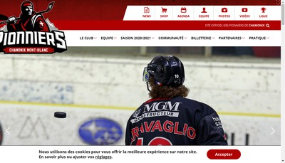 Site internet de Chamonix Hockey Elite
