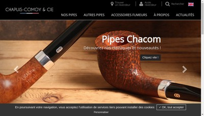 Site internet de Chapuis Comoy et Cie