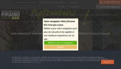 Site internet de Les Constructions Piraino