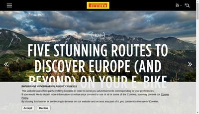 Site internet de Pirelli Tyre Spa