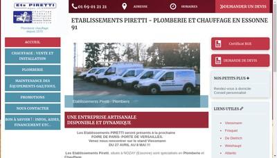 Site internet de Etablissement Piretti