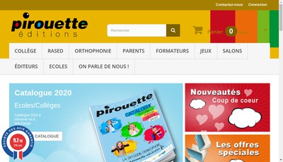 Site internet de SARL Pirouette Editions