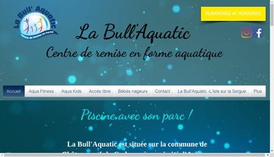 Site internet de La Bull Aquatic