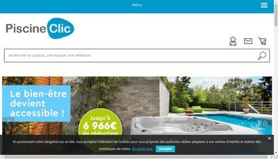 Site internet de Piscine Clic