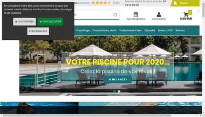 Site internet de Piscine Discount