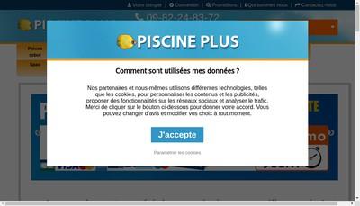 Site internet de SARL Piscine Plus