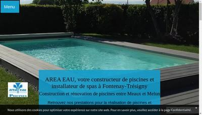 Site internet de Area Eau