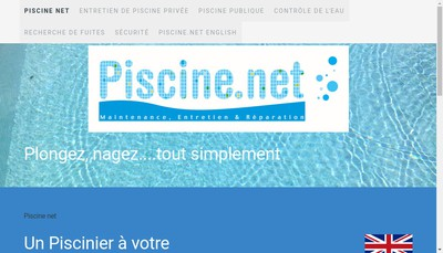 Site internet de Piscine Net