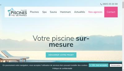 Site internet de Piscines de France