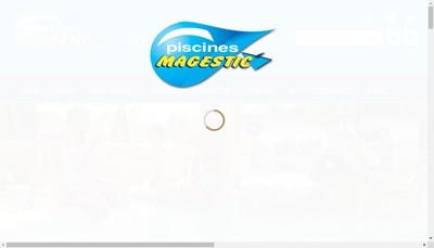 Site internet de Piscines Magestic