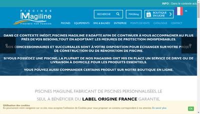 Site internet de Piscines Magiline