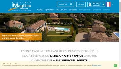 Site internet de SARL Pacific Piscines