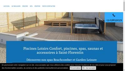 Site internet de Piscines Loisirs Confort
