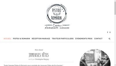 Site internet de Pistou et Romarin