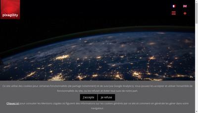 Site internet de Pixagility Innovation