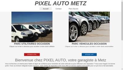 Site internet de Pixel Auto Metz