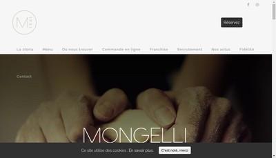 Site internet de Mongelli Pizza