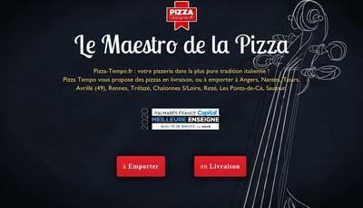 Site internet de Pizza Tempo