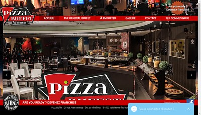 Site internet de Pizza Buffet