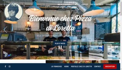 Site internet de Pizza Di Loretta