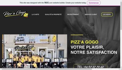 Site internet de Pizz 'a Gogo