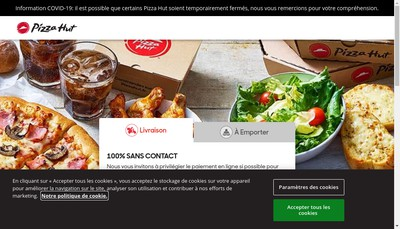 Site internet de Pizza Hut