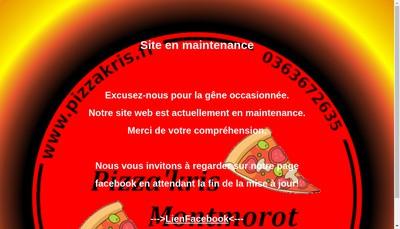 Site internet de Pizza' Kris