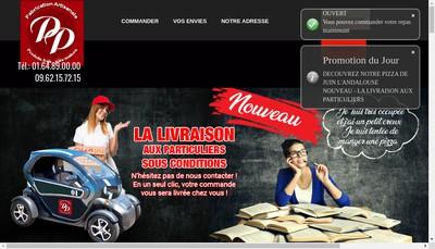 Site internet de Pizza Paton