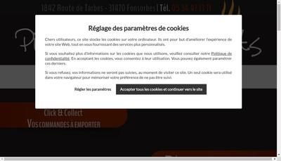 Site internet de Pizzas et Petits Plats