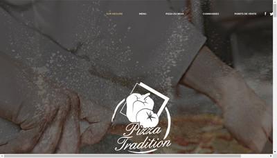 Site internet de Pizza Tradition