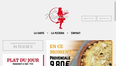 Site internet de Pizzeria la Nicoise