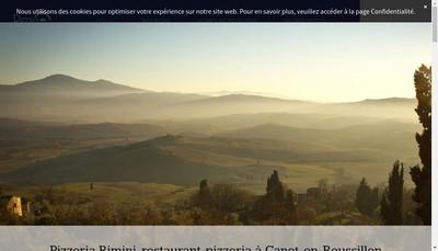 Site internet de Pizzeria Rimini