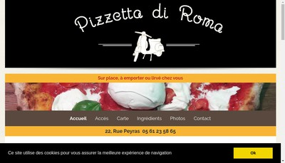 Site internet de Pizzetta Di Roma