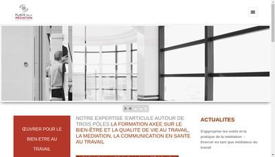 Site internet de Place de la Mediation