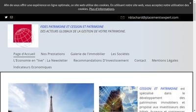Site internet de Fides Patrimoine Finance