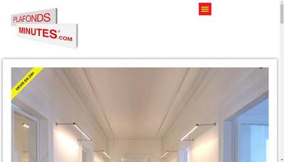 Site internet de Plafonds Minutes