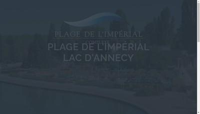Site internet de La Plage d'Annecy