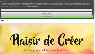 Site internet de Plaisir de Creer