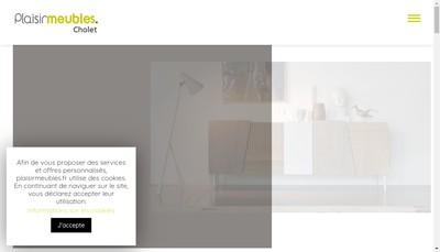 Site internet de SARL Unipersonnelle Plaisir Meubles