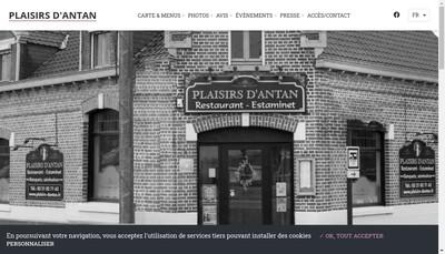 Site internet de Plaisirs d'Antan