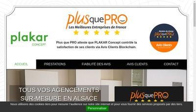 Site internet de Plakar Concept