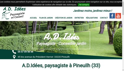 Site internet de AD Idees