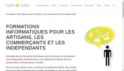 Site internet de Planche Contact