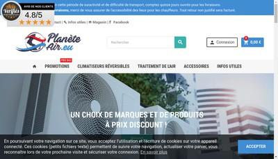 Site internet de Plante Air