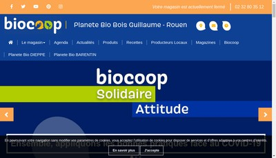Site internet de Planete Bio