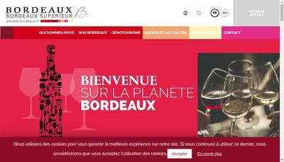 Site internet de Maison des Bordeaux et Bordeaux Superieur