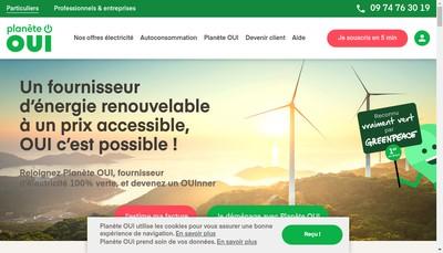 Site internet de Oui Energy